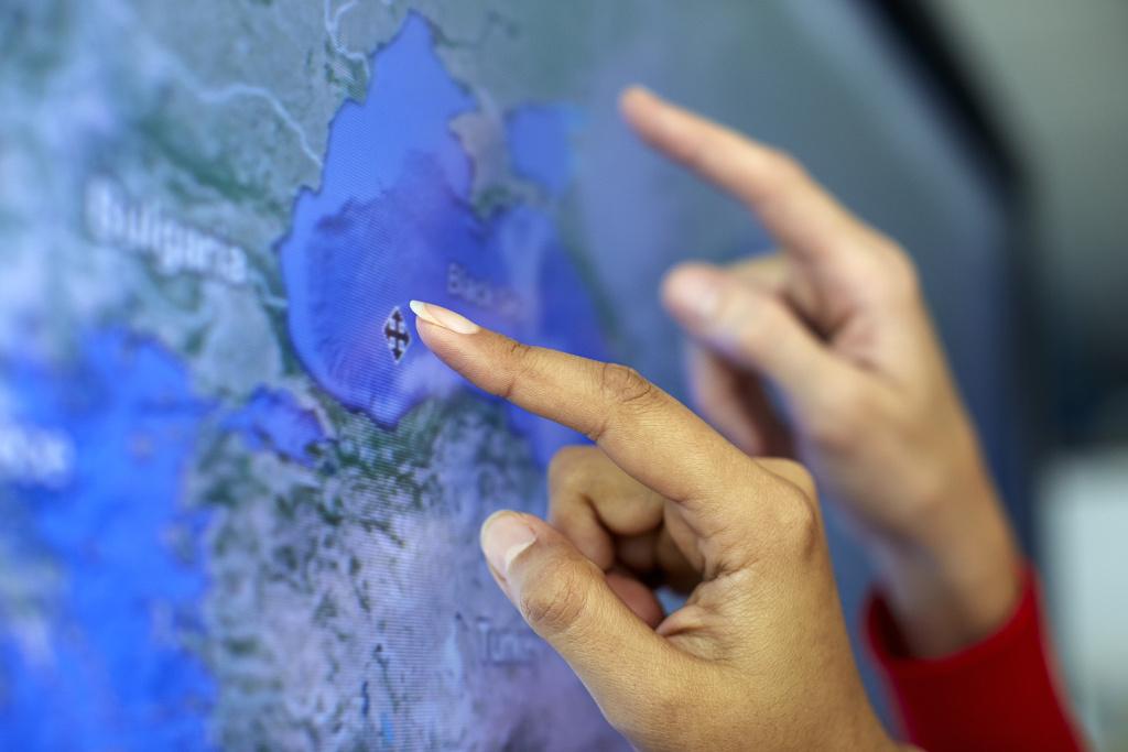 Digitale Tafel, moderne Technologien in Schulen und Bildungseinrichtungen